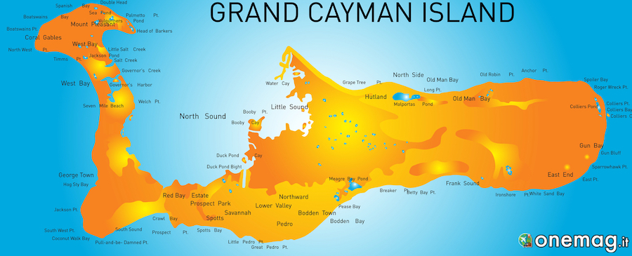 Grand Cayman, mappa