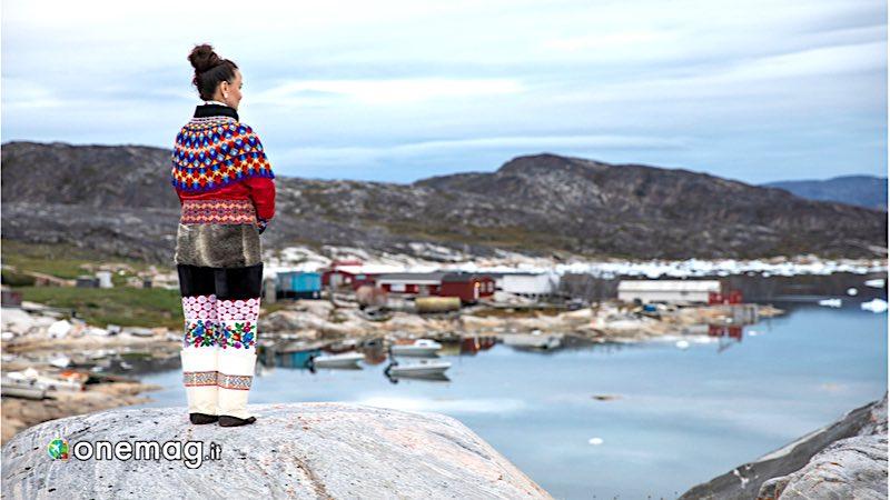 Groenlandia, villaggio Inuit