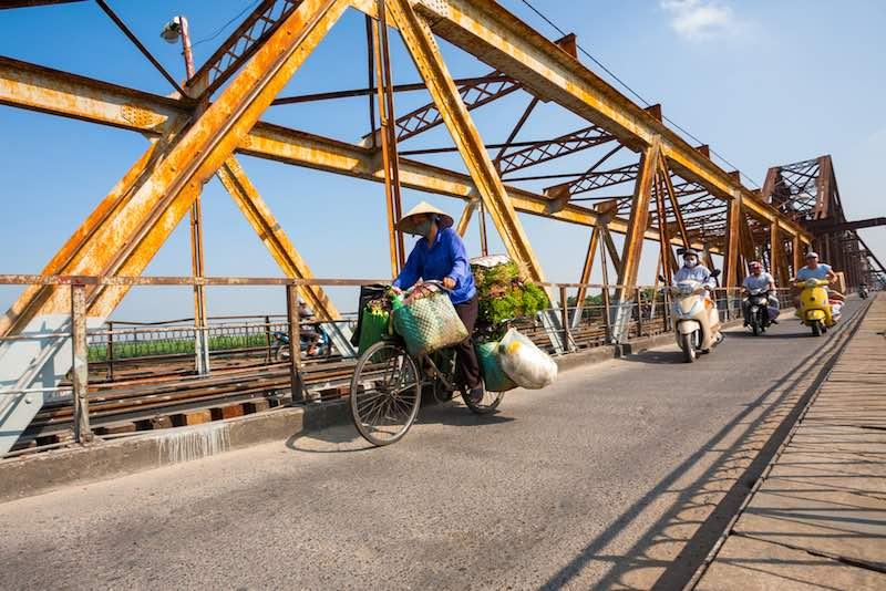 Hainoi, il ponte Long Bien
