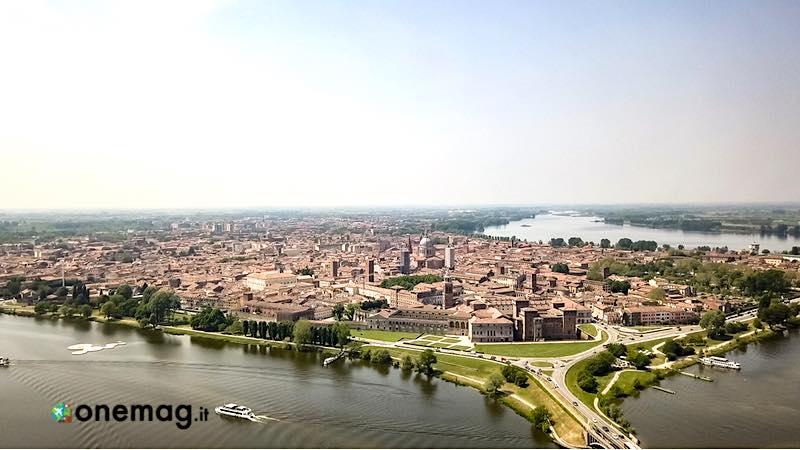 Cosa vedere a Mantova, veduta aerea