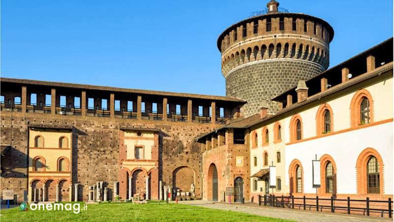 Milano, interno del Castello Sforzesco