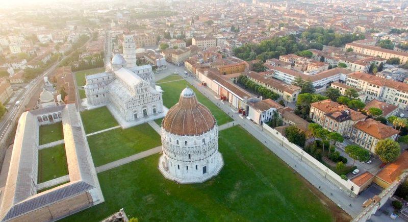 Cosa vedere a Pisa, veduta aerea