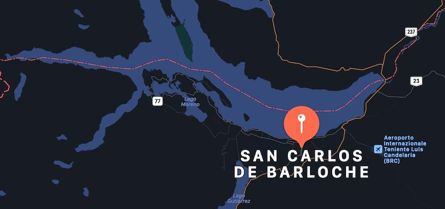 Cosa vedere a San Carlo de Bariloche, mappa