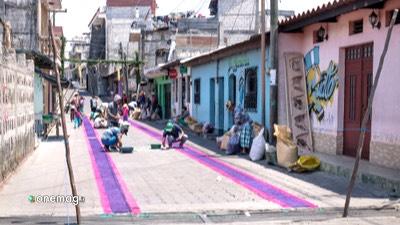 Santiago Atitlan, strada