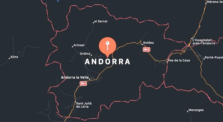 Cosa vedere ad Andorra, mappa
