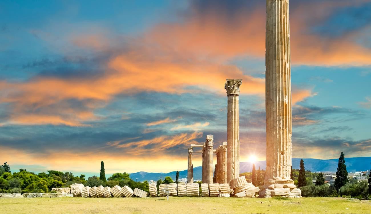 Atene in autunno, Tempio di Zeus