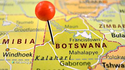 Botswana, mappa