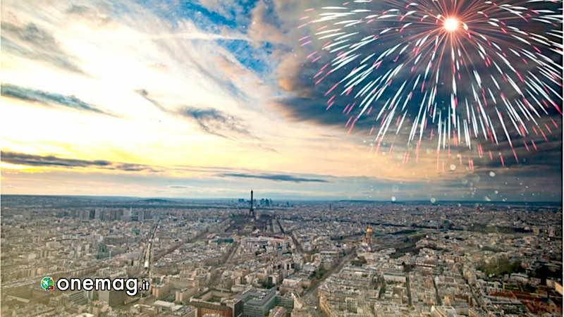 Capodanno a Parigi, fuochi d'artificio