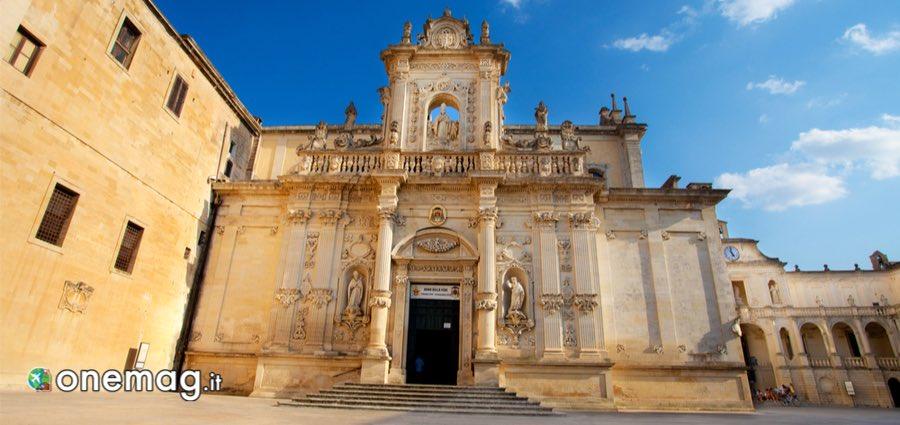 Visitare Lecce: facciata della Cattedrale di Lecce