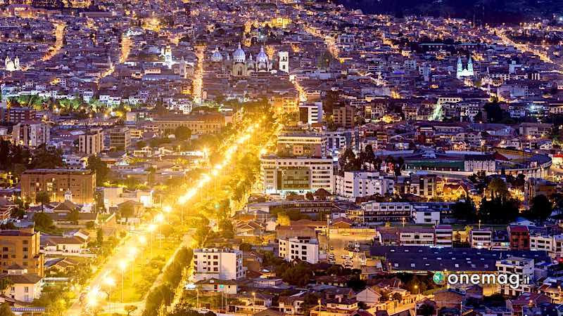 Cuenca, veduta notturna