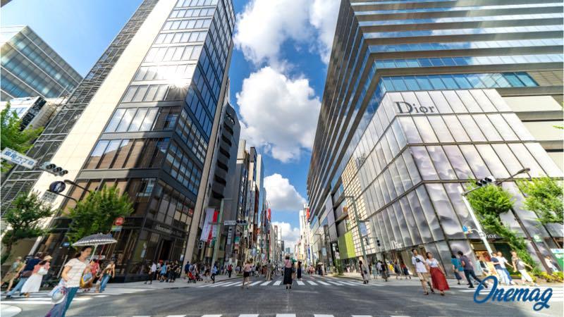 Il quartiere Ginza di Tokyo, shopping