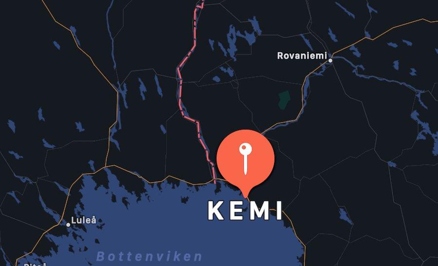 Il castello di neve di Kemi, mappa