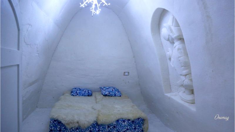 Il castello di neve di Kemi, camera da letto