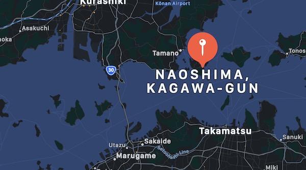 Cosa vedere in Giappone, Naoshima mappa
