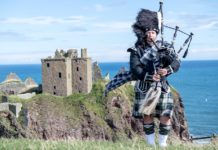 Scozia, suonatore di cornamusa