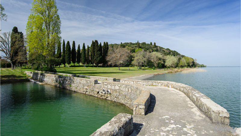 Lago Trasimeno in Umbria, l'Isola Polvese
