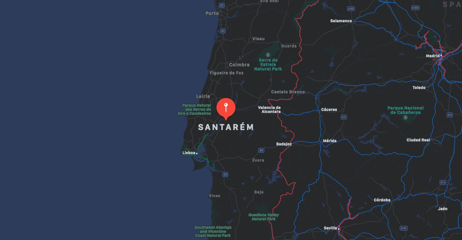 Mappa di Santarem