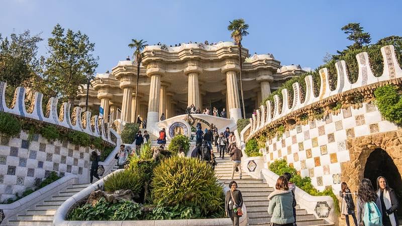 Barcellona, Park Güell di Gaudì