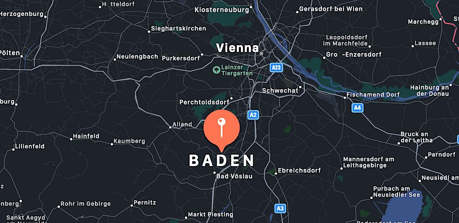 Cosa vedere a Baden bei Wien, mappa