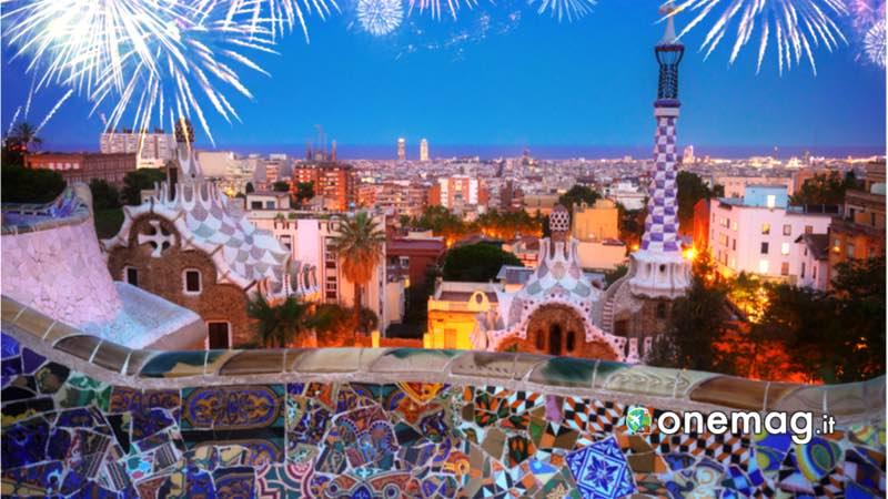 Barcellona, fuochi d'artificio