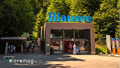 Il lago Blausee, ingresso