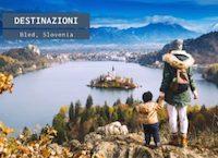 Bled, lago e città ai piedi delle Alpi Giulie