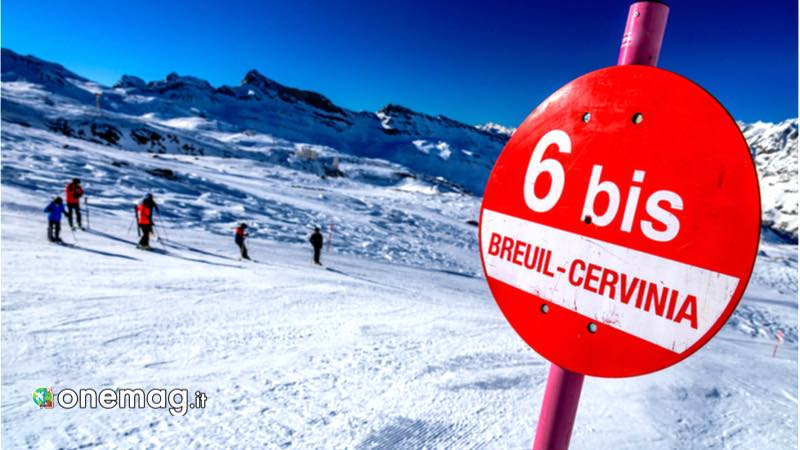 Breuil-Cervinia. piste da sci