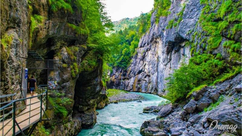 Le gole dell'Aare a Meiringen in Svizzera