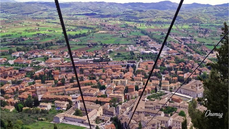 Cosa vedere a Gubbio, Funivia Colle Eletto