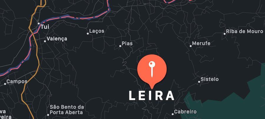 Cosa vedere a Leira, mappa