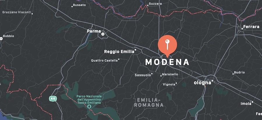 Cosa vedere a Modena, mappa