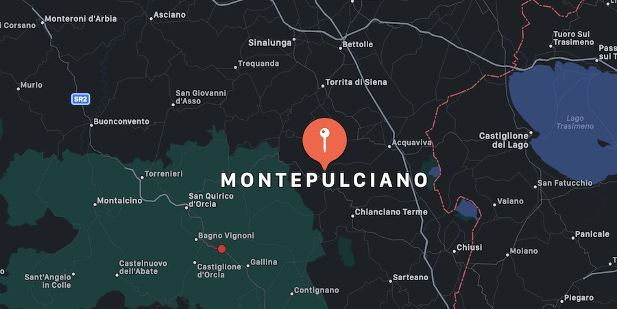 Cosa vedere a Montepulciano, mappa