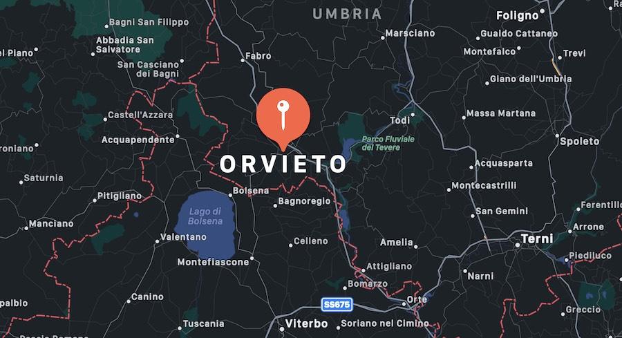 Cosa vedere a Orvieto, mappa
