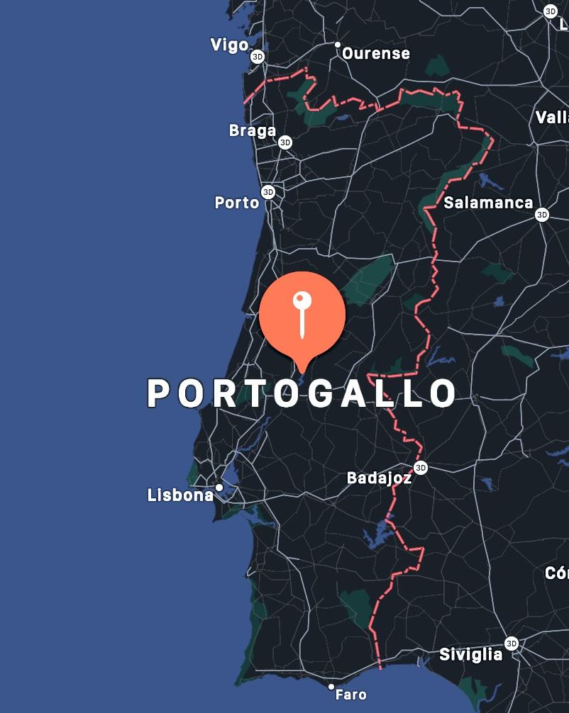 Cosa vedere in Portogallo, mappa