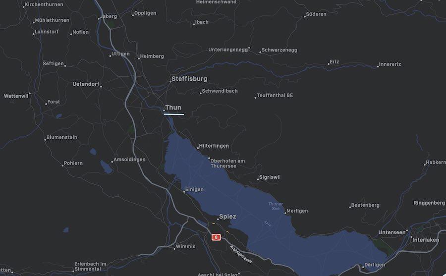 Cosa vedere a Thun, mappa