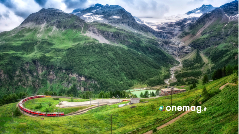 Tragitto del Trenino Rosso del Bernina