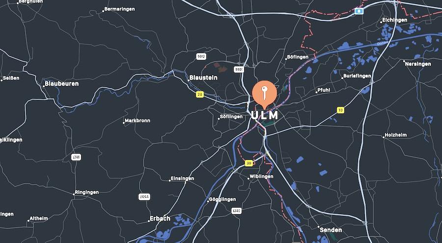 Cosa vedere a Ulm, mappa