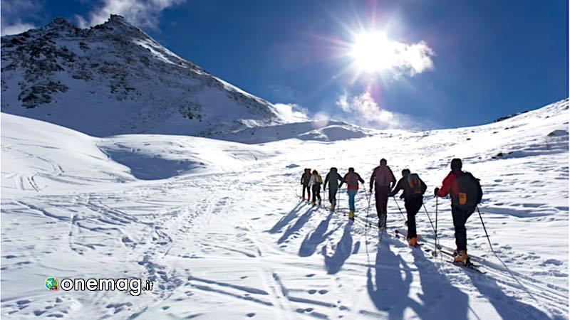 Valle d'Aosta sciatori