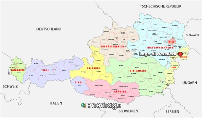 Mappa del Lago di Neusiedl