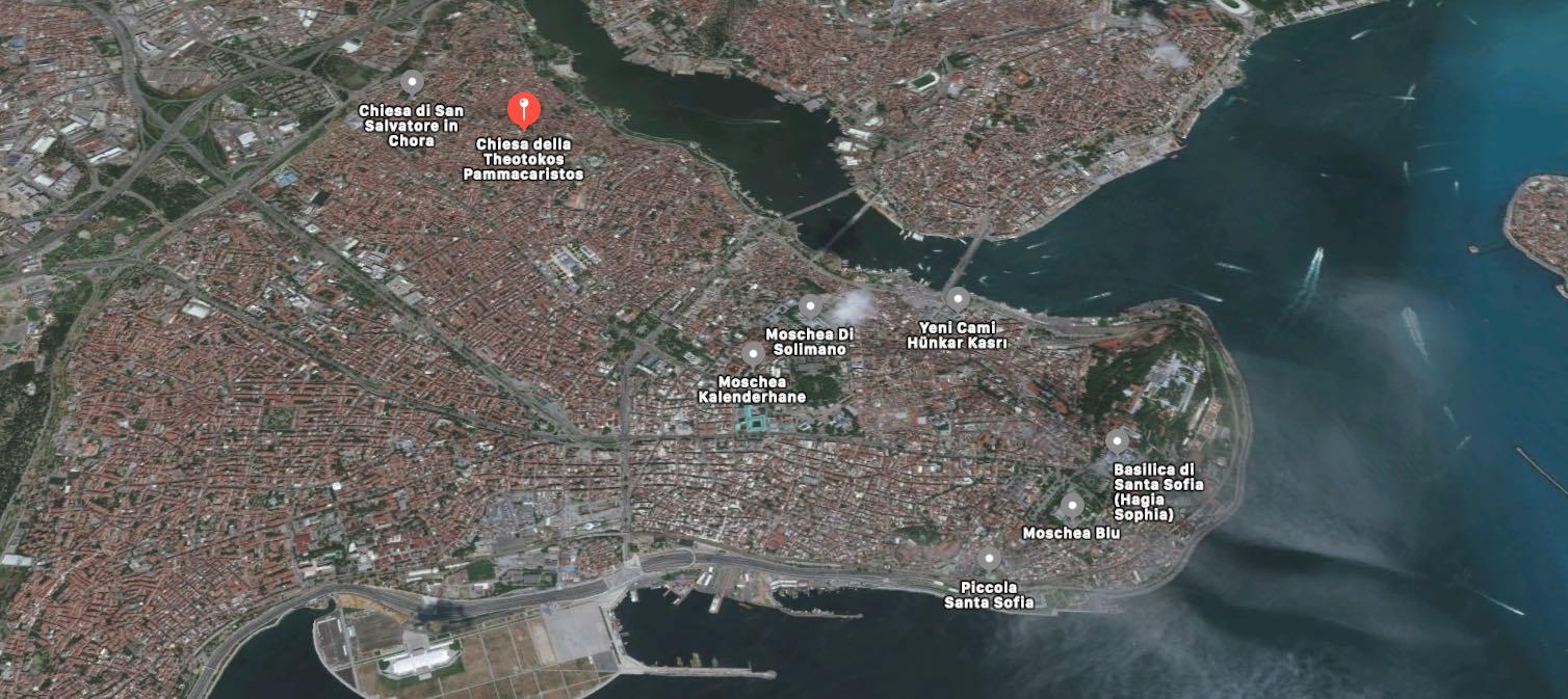 Mappa edifici religiosi di Istanbul