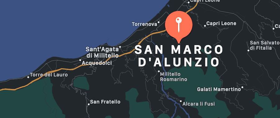 Cosa vedere a San Marco d'Alunzio, mappa