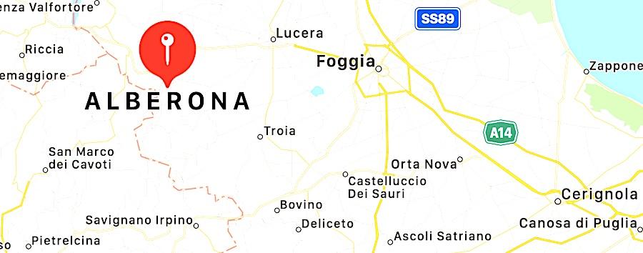 Cosa vedere ad Alberona, mappa