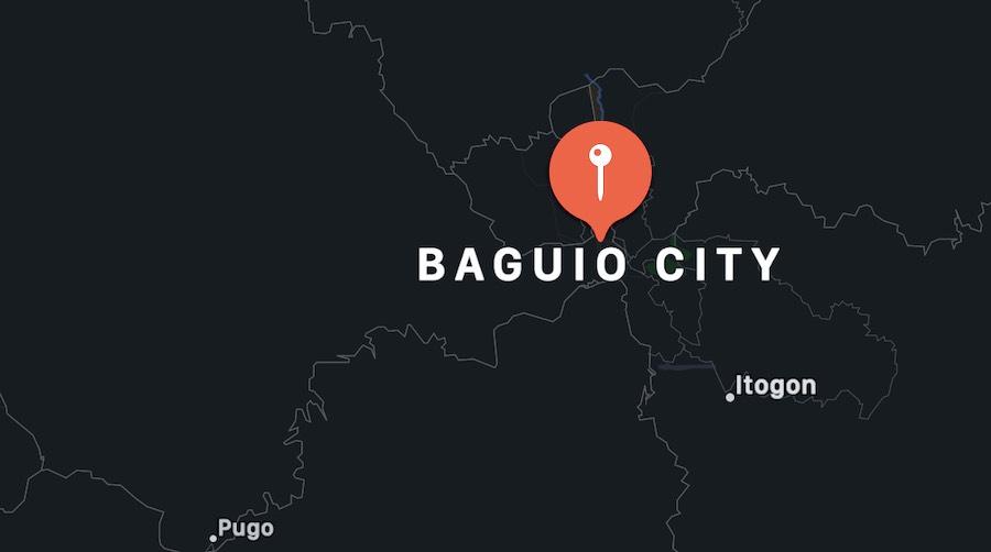 Cosa vedere a Baguio, mappa