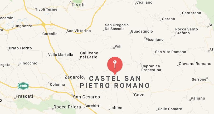 Cosa vedere a Castel San Pietro Romano, mappa