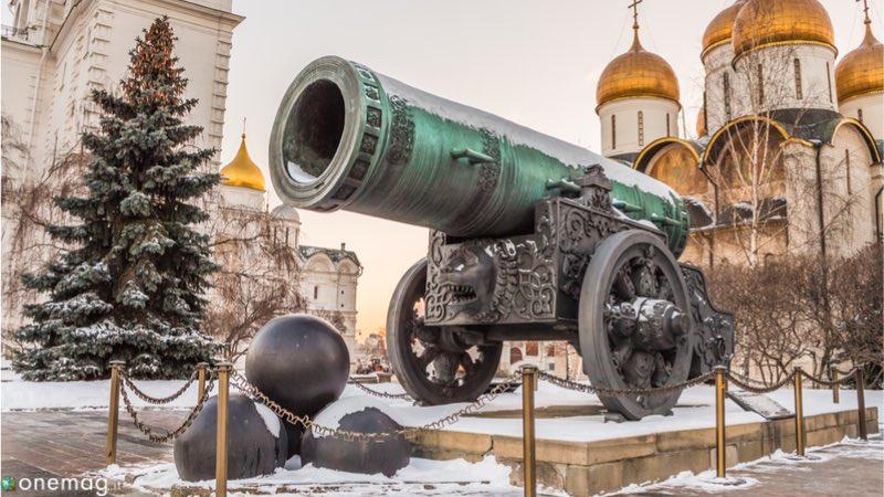 Il Cremlino di Mosca, il cannone dello zar
