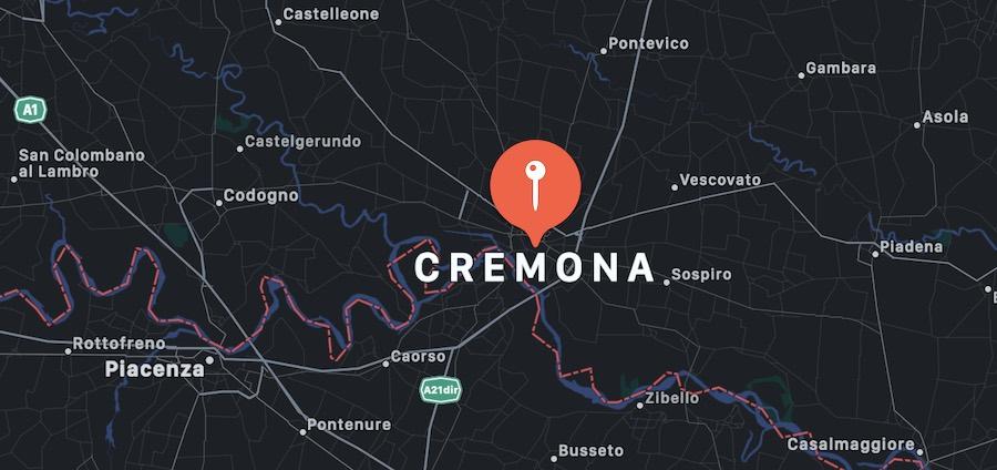 Cosa vedere a Cremona, mappa