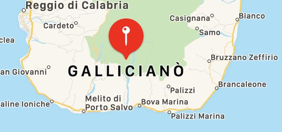 Cosa vedere a Gallicianò, mappa