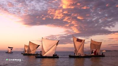Guida del Madagascar, veduta barche tipiche