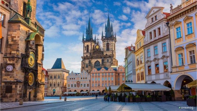Piazza dell'Orologio a Praga