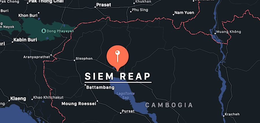 Cosa vedere a Siem Reap, mappa